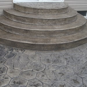 stamped concrete patio with stairs. Delighful Patio Can Be Stamped Or Engraved In Patterns Such As Brick Flagstone Slate  Tile A Concrete Patio Walkway Driveway Steps And Stairs Should Last A And Stamped Concrete Patio With Stairs